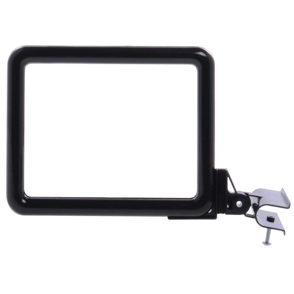 "Side View Clamp Sign Holder For 5 1/2""H x 7""W Black Plastic"