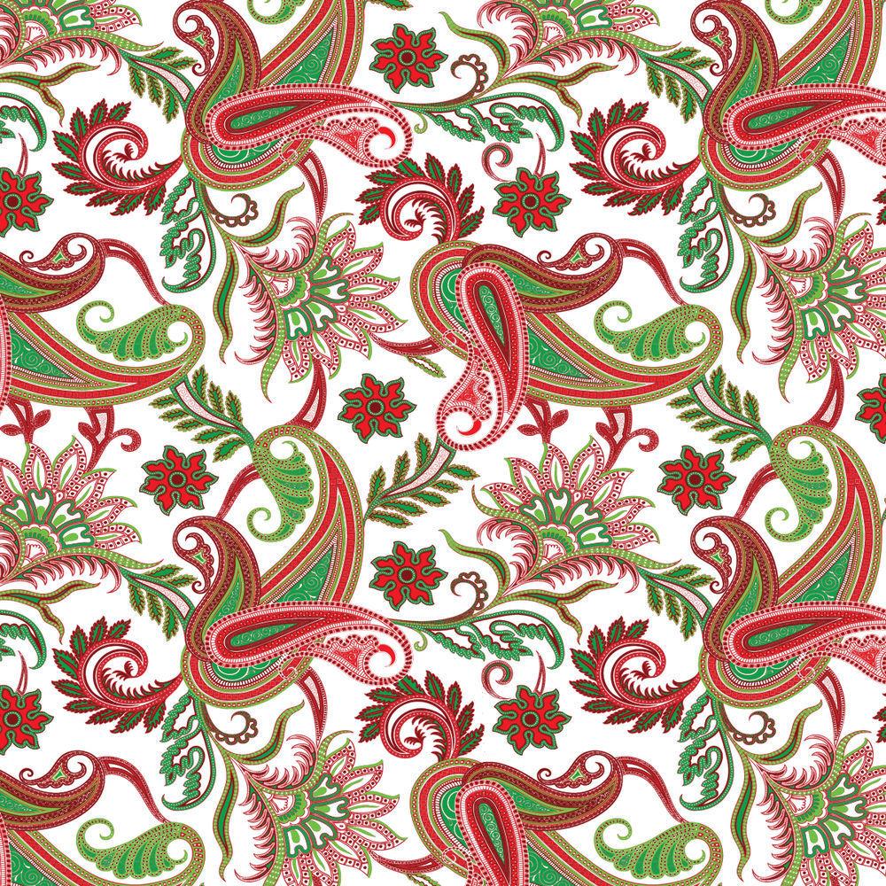 Christmas Print Holiday Gift Wrap, Half Roll