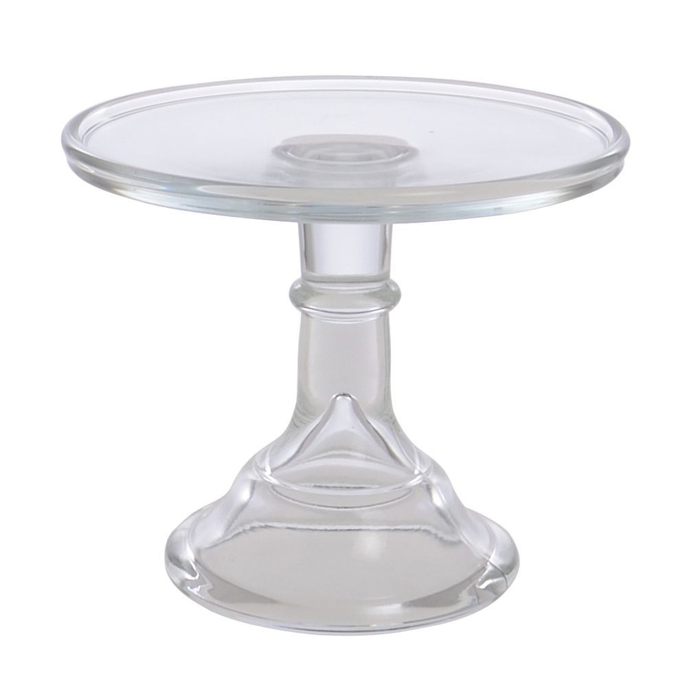 Mosser Glass Vintage Crystal Clear Glass Cake Stand 6 Dia X 5 1 2 H