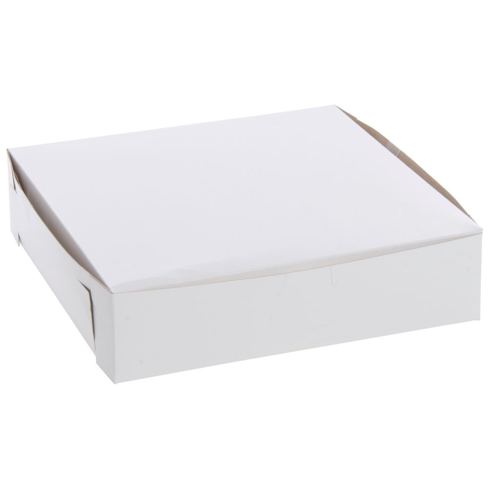 Donuts Grease-Resistant 10x10x2.5 White Pastry Boxes with Window Cookies Cakes Super Elegant Pies Great Gift Idea for Cute Homemade Treats Pro-Style 10in Bakery Box 5 Pk Perfect for Desserts