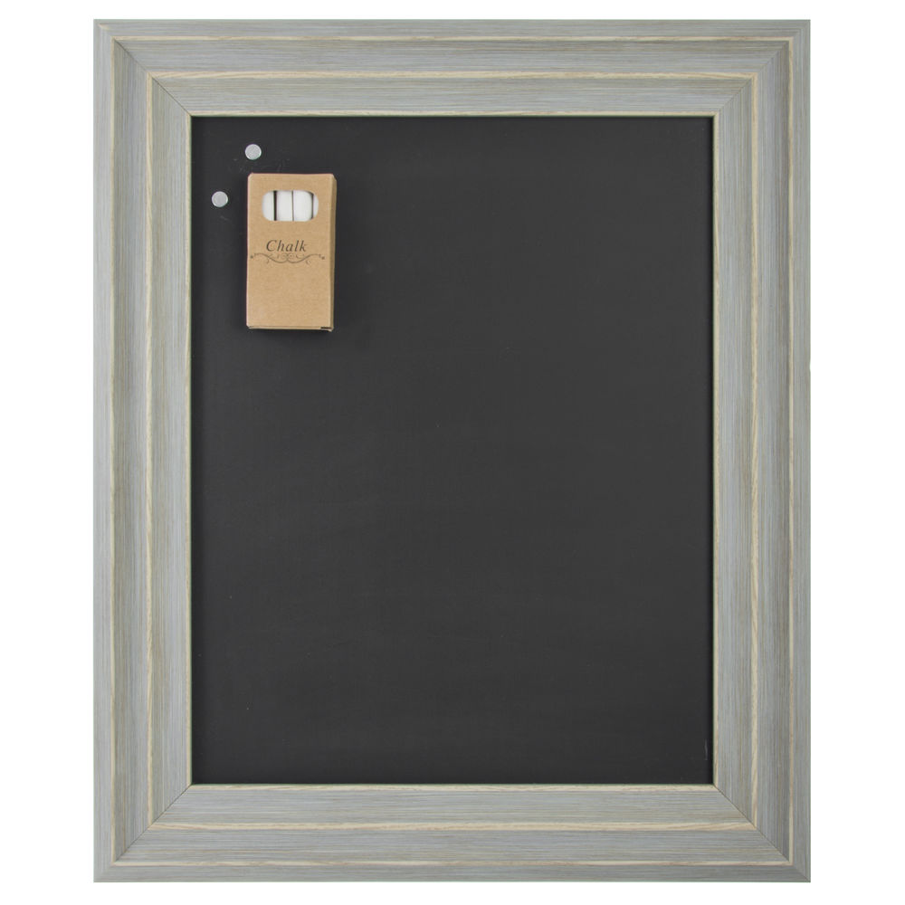 Lawrence Frames Magnetic Chalkboard With Weathered Grey Frame - 14 1 ...