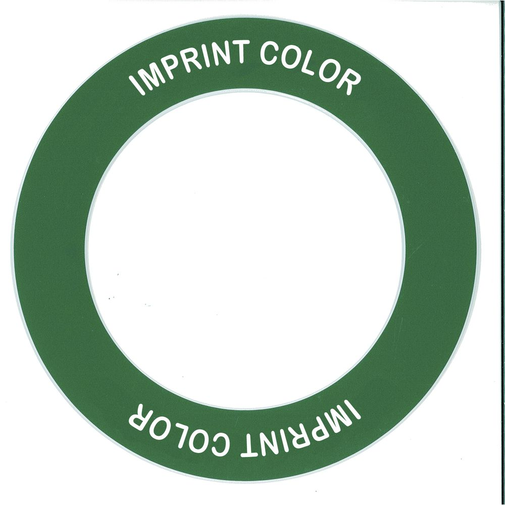 """Store 'N Pour ID Ring Green/White Plastic Overall Dia 5 1/2"""" Inside Dia 3 1/2"""""""