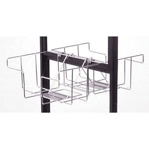 BASKET FOR DOUBLE SIDED FLR STAND, SILVER