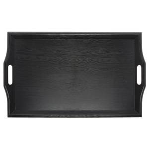 "TRAY, ROOM SERV.BLACK, 25X17""PLASTIC"