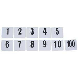 TABLE NUMBERS, DOUBLE-SIDED, 1-100/SET