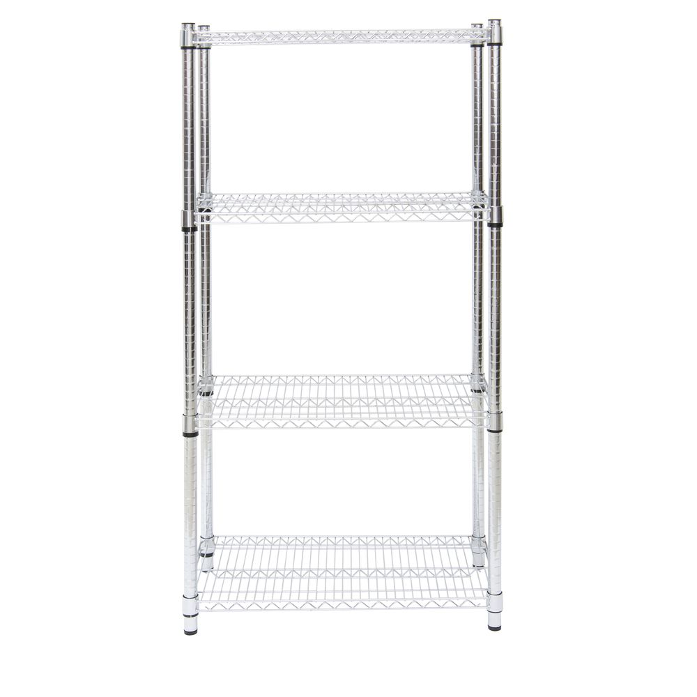 Expressly HUBERT Heavy Duty Wire Shelving Additional Black Plastic ...