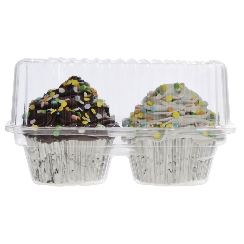 CONTAINER, 2 COUNT, CLEAR, CUPCAKE HOLDER