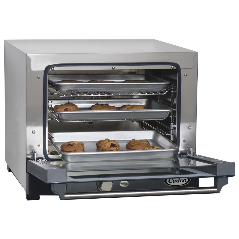 Cadco Medium Duty Manual Roberta Countertop Convection Oven - 18 7/8L x 21  1/2W x 15 3/4H