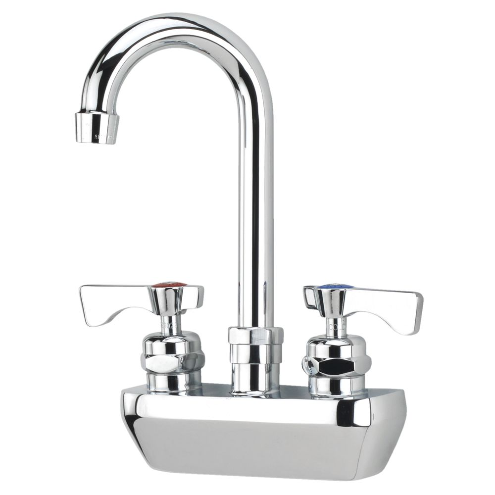 "FAUCET, WALL MOUNT, 4"" CENTER"