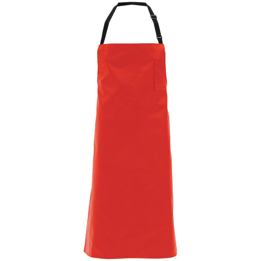 APRON, SUPPORTED SYNTH.LEATHER, RED