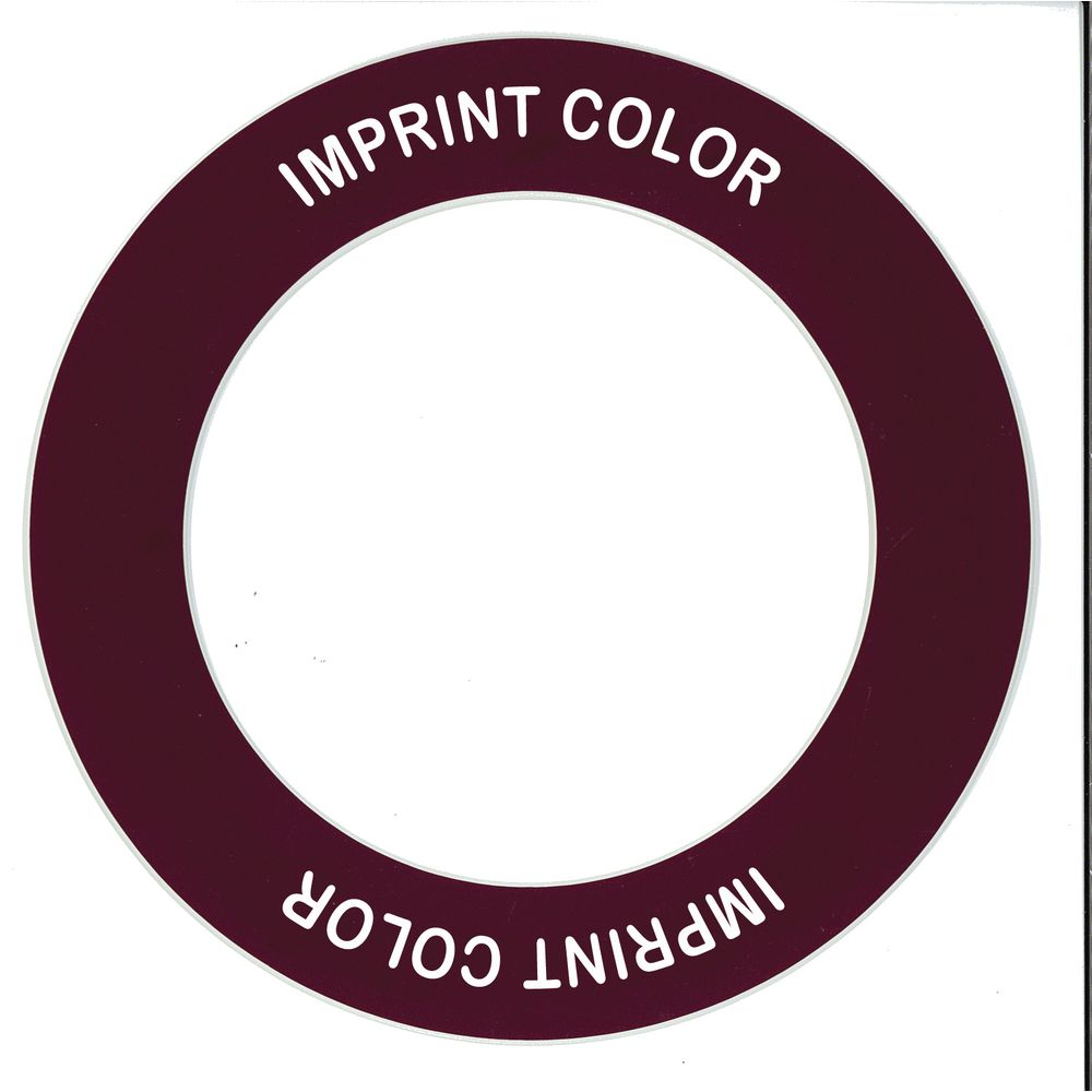 """Store 'N Pour ID Ring Burgundy/White Plastic Overall Dia 5 1/2"""" Inside Dia 3 1/2"""""""