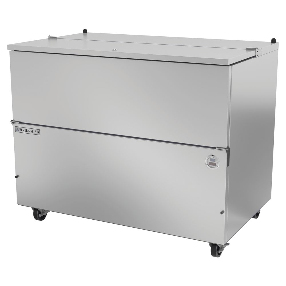 """COOLER, MILK, SINGLE, COLD WALL, 49.5""""L, SS"""
