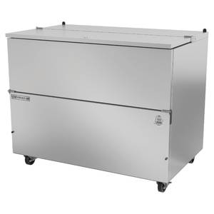 "COOLER, MILK, SINGLE, COLD WALL, 49.5""L, SS"