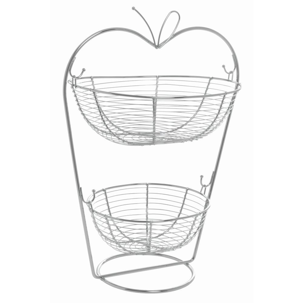 Stand fruit wire 2 tier 19 5h