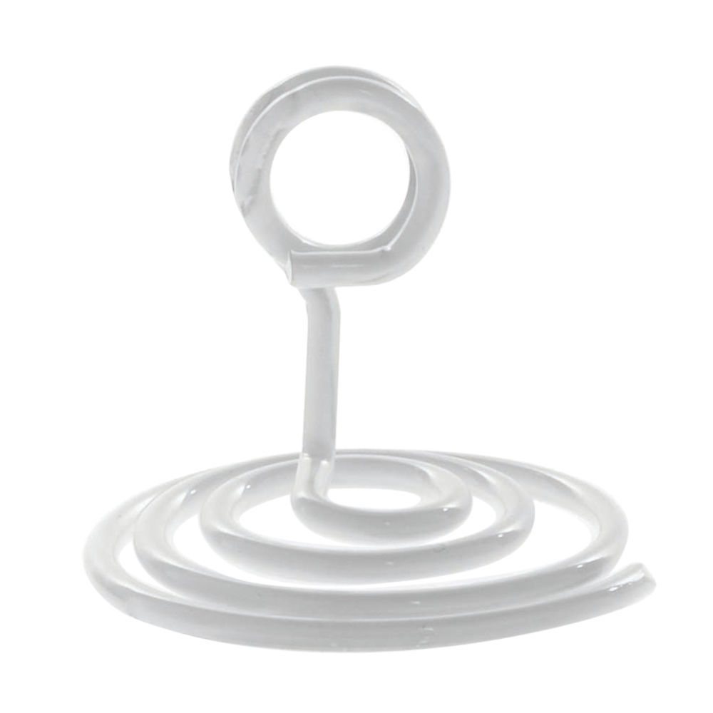 "Countertop Spiral Base Sign Holder 1 3/4""H White Finish"