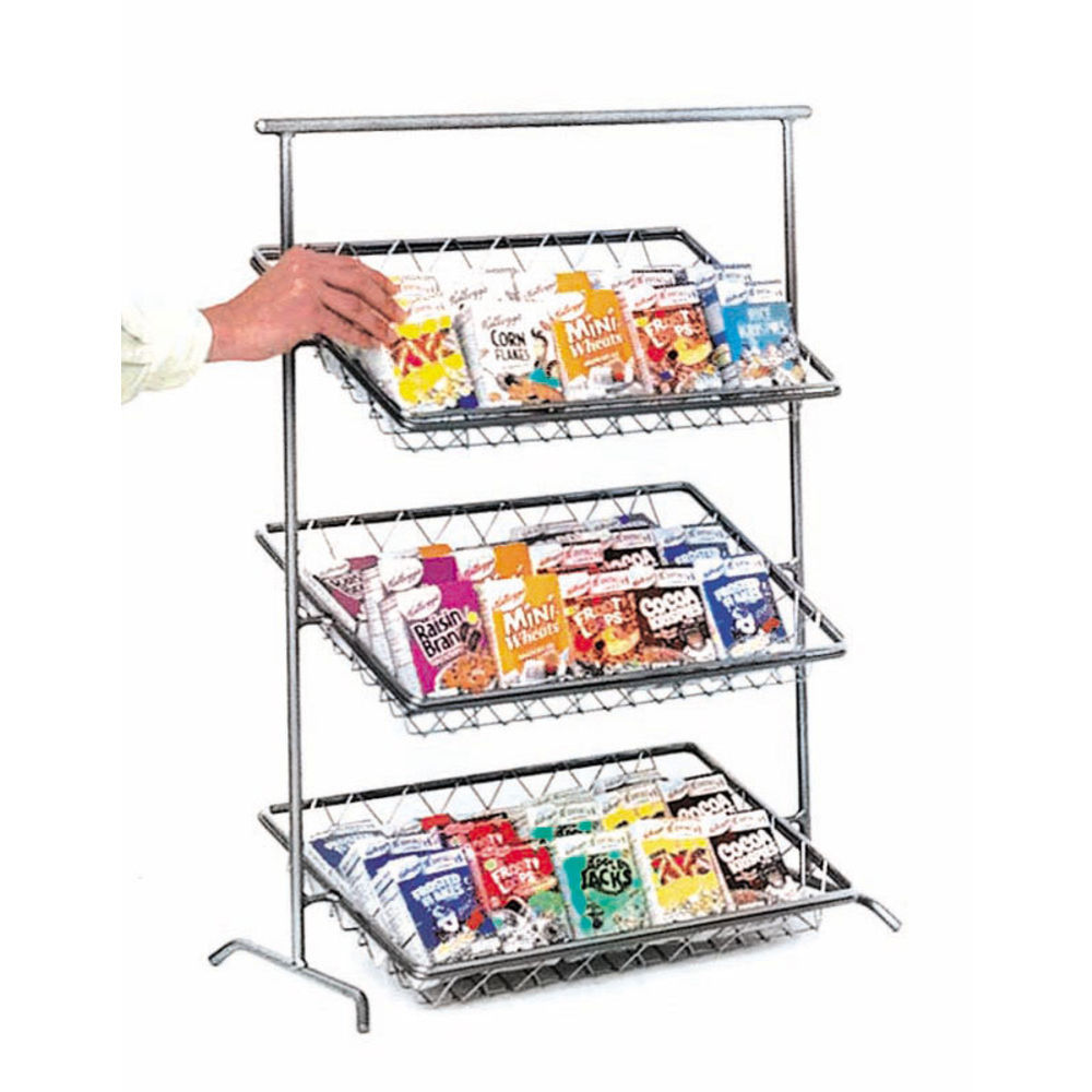 Chrome 3 Tiered Metal Stand Features Attractive Design