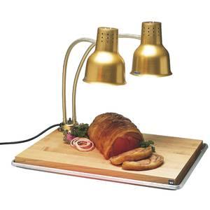 HEAT LAMP, FLEXIGLOW, DBL ARM W/BOARD, GOLD