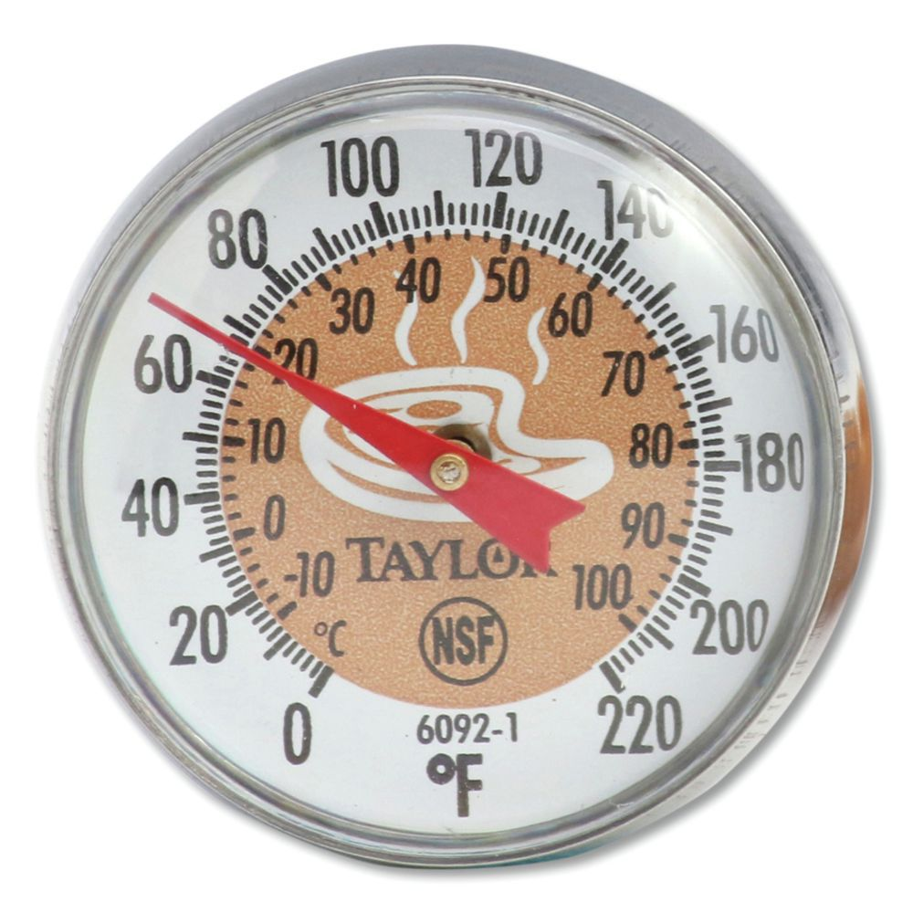 THERMOMETER, BABY DIAL, BI-THERM, BROWN
