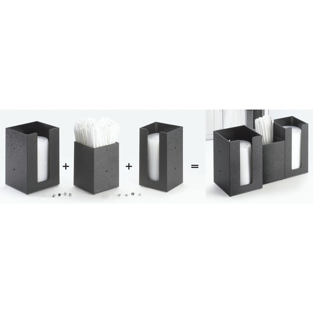 ORGANIZER, BLACK, CUP/LID, FOR 4.5DIA