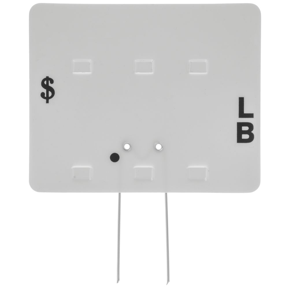 TAG, BLANK TOP WITH PINS, WHITE