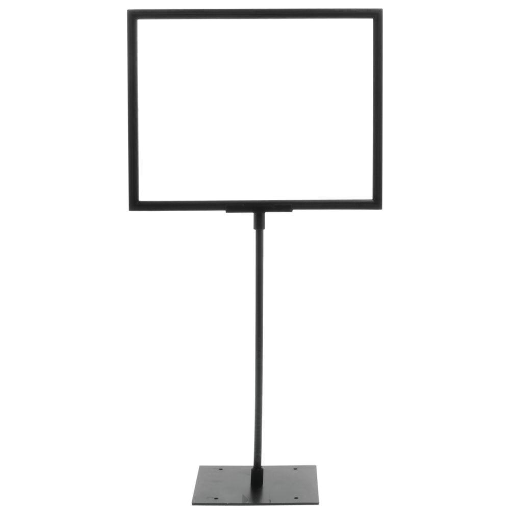 Black Plastic Sign Frame With 12\