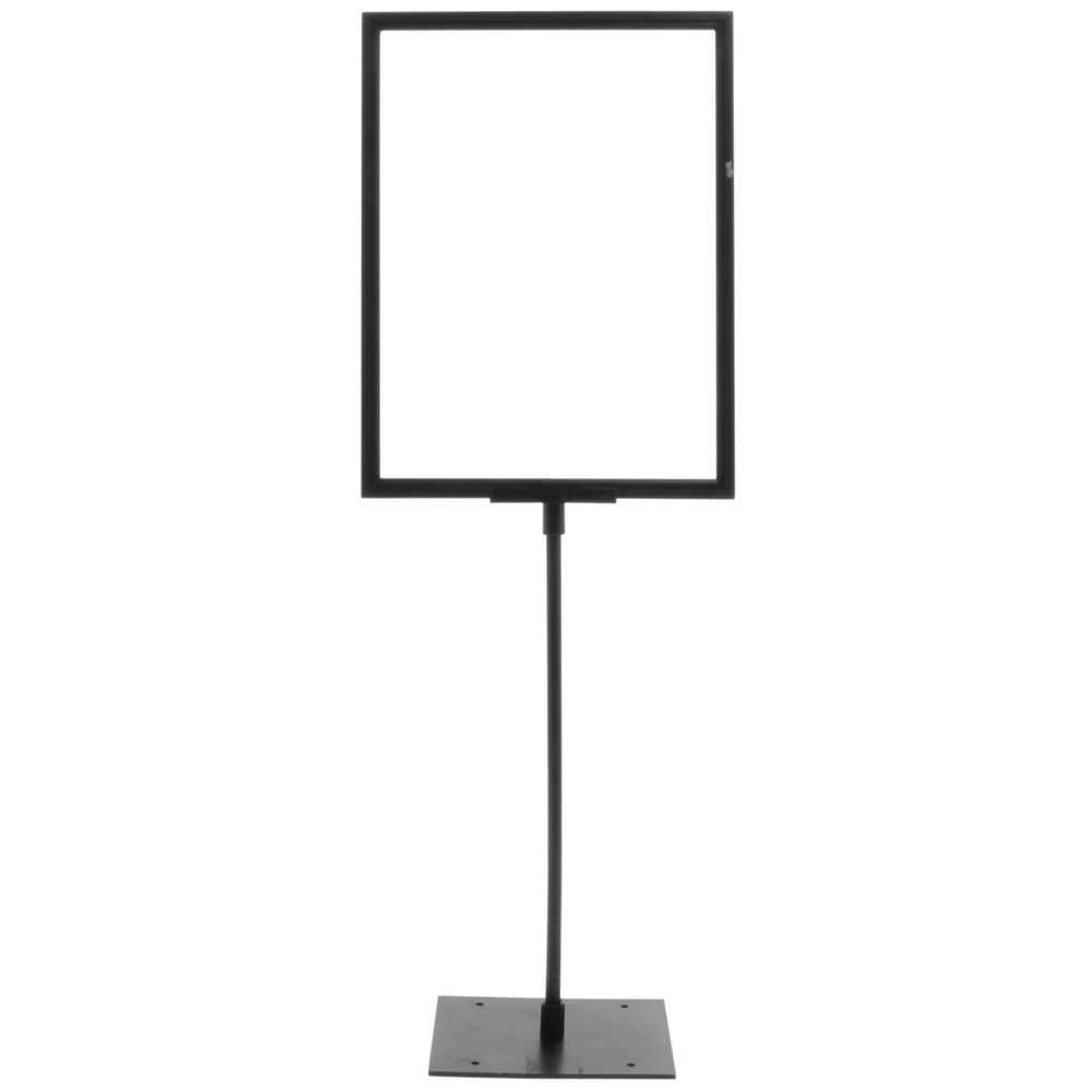 Sign Frame with 4 Stem and Centered Base 11 x 8 1//2 W x H