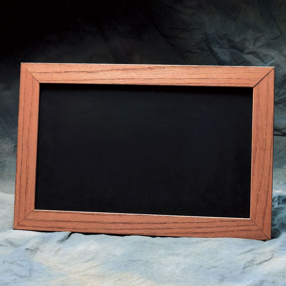 Expressly HUBERT® Double-Sided Chalkboard Cherry Stained Frame - 24 ...