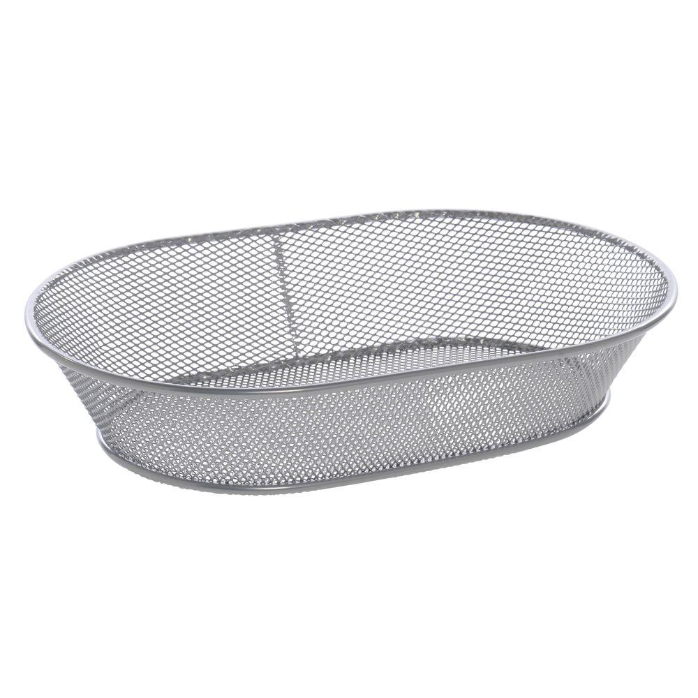 Wire Bread Baskets | Expressly Hubert Silver Wire Mesh Bread Basket 11 L X 7 W X 2