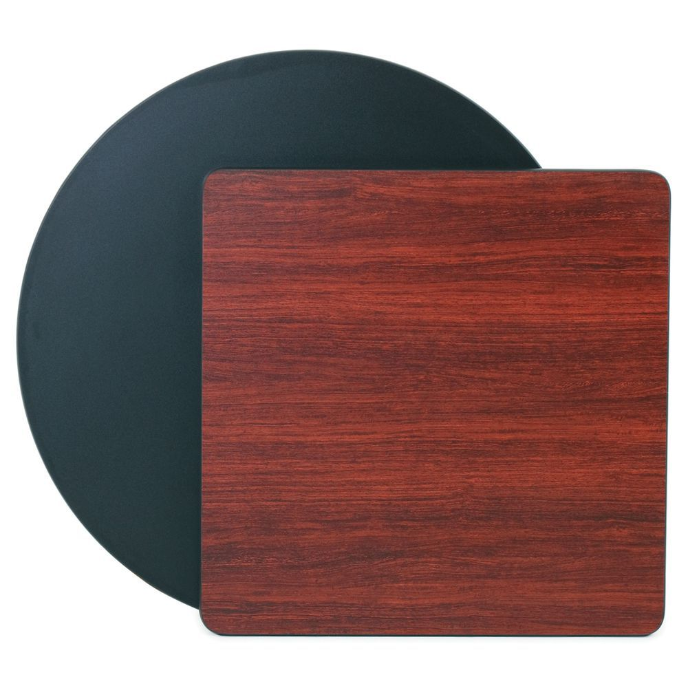 TABLE TOP, 24X24 SQ, BLK/MAHOGANY, BLK MOLD