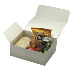 BOX, PAPERBOARD MEAL, WHITE
