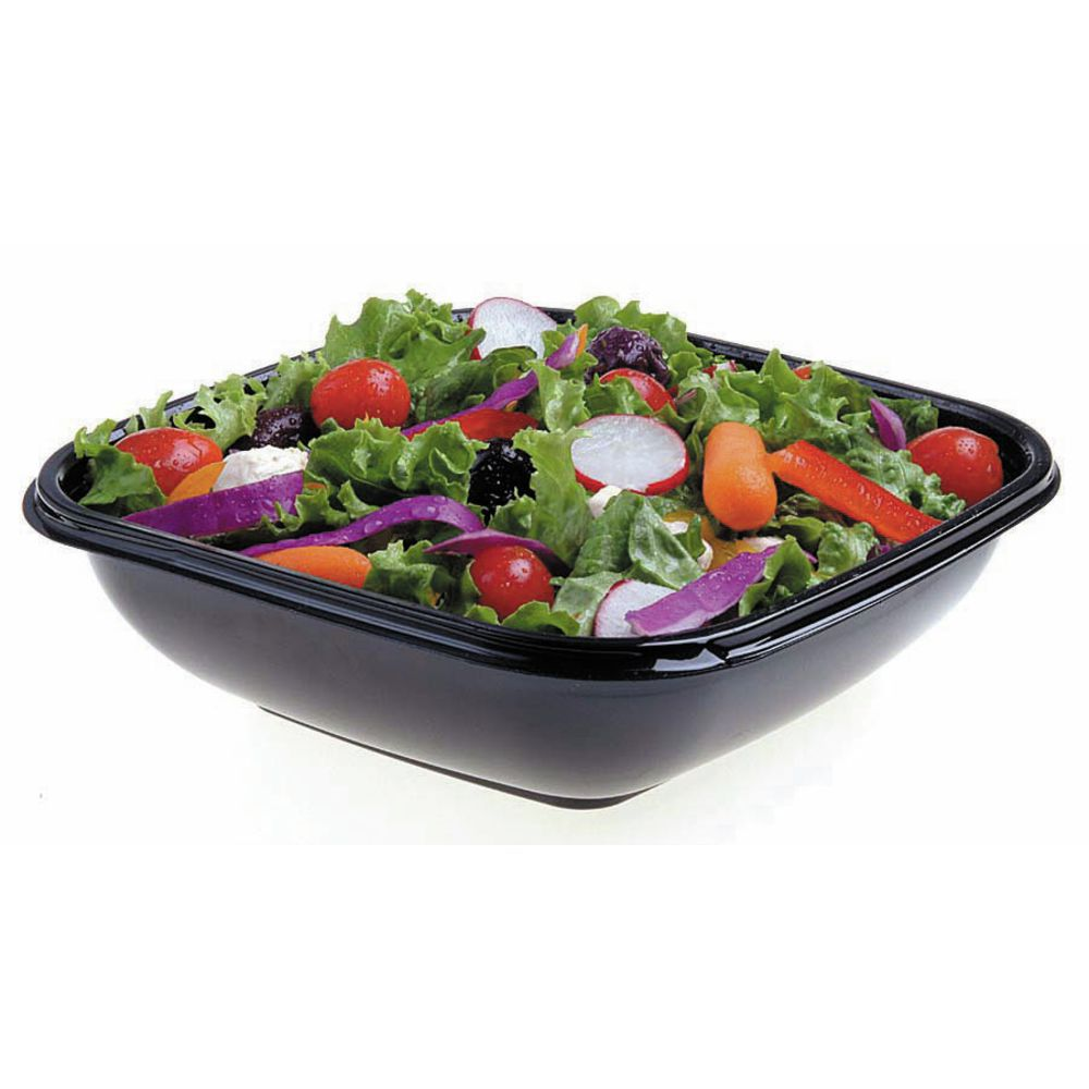 BOWL, SQUARE, MED.48OZ, CLEAR