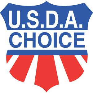 LBL, USDA CHOICE, RED AND BLUE ON WHITE