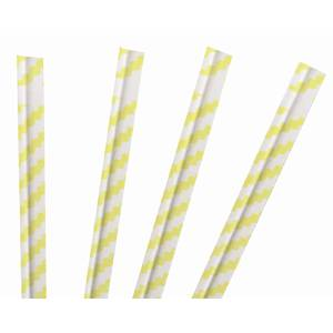 TWIST TIES, YELLOW STRIPE