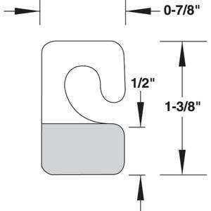 "HANG TABS.CLUSTER HOOK, 100/PK, 7/8""X1-3/8"