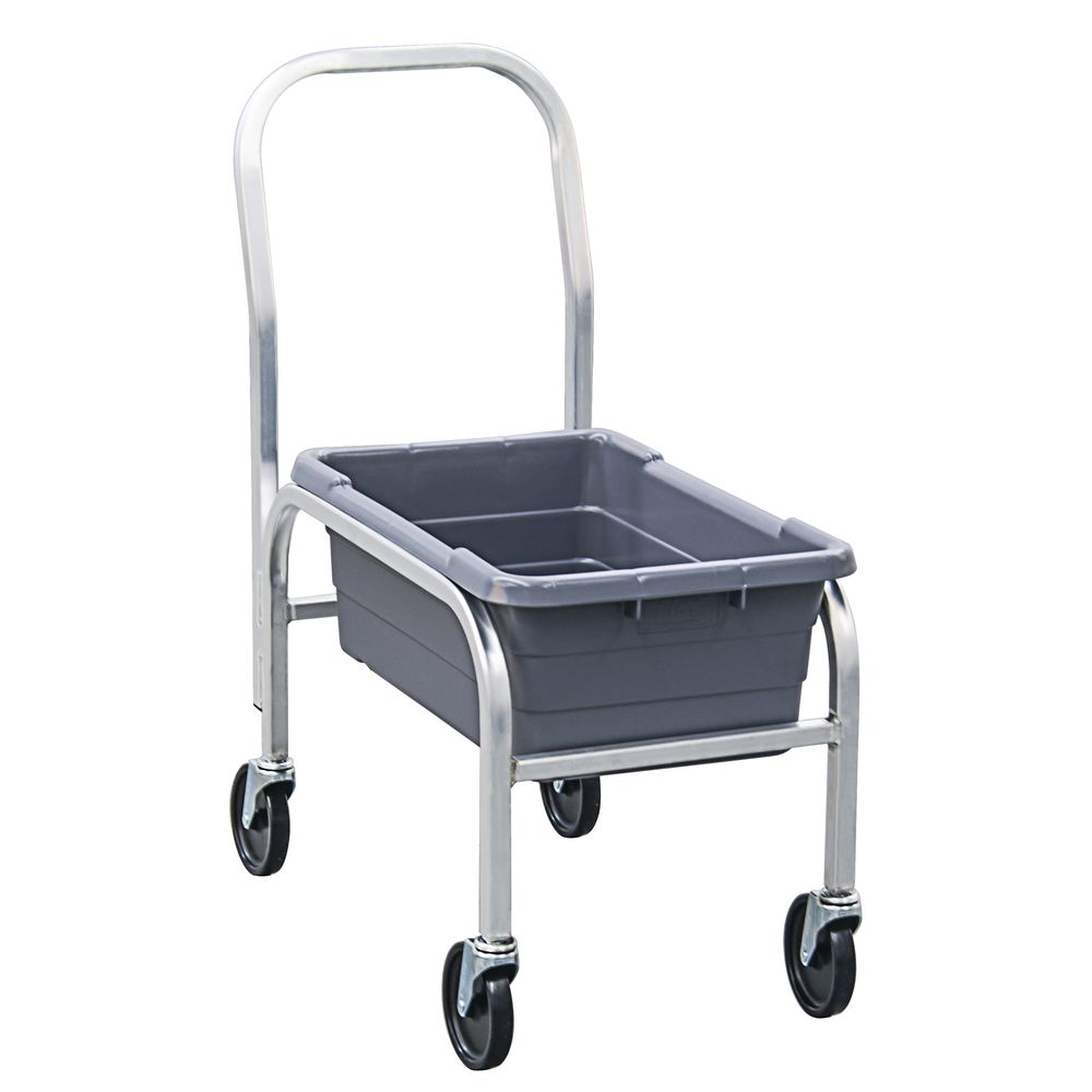 "NewAge Rolling Cart 30 3/4""L x 16 3/4""W x 36 1/2""H Aluminum With Handle"