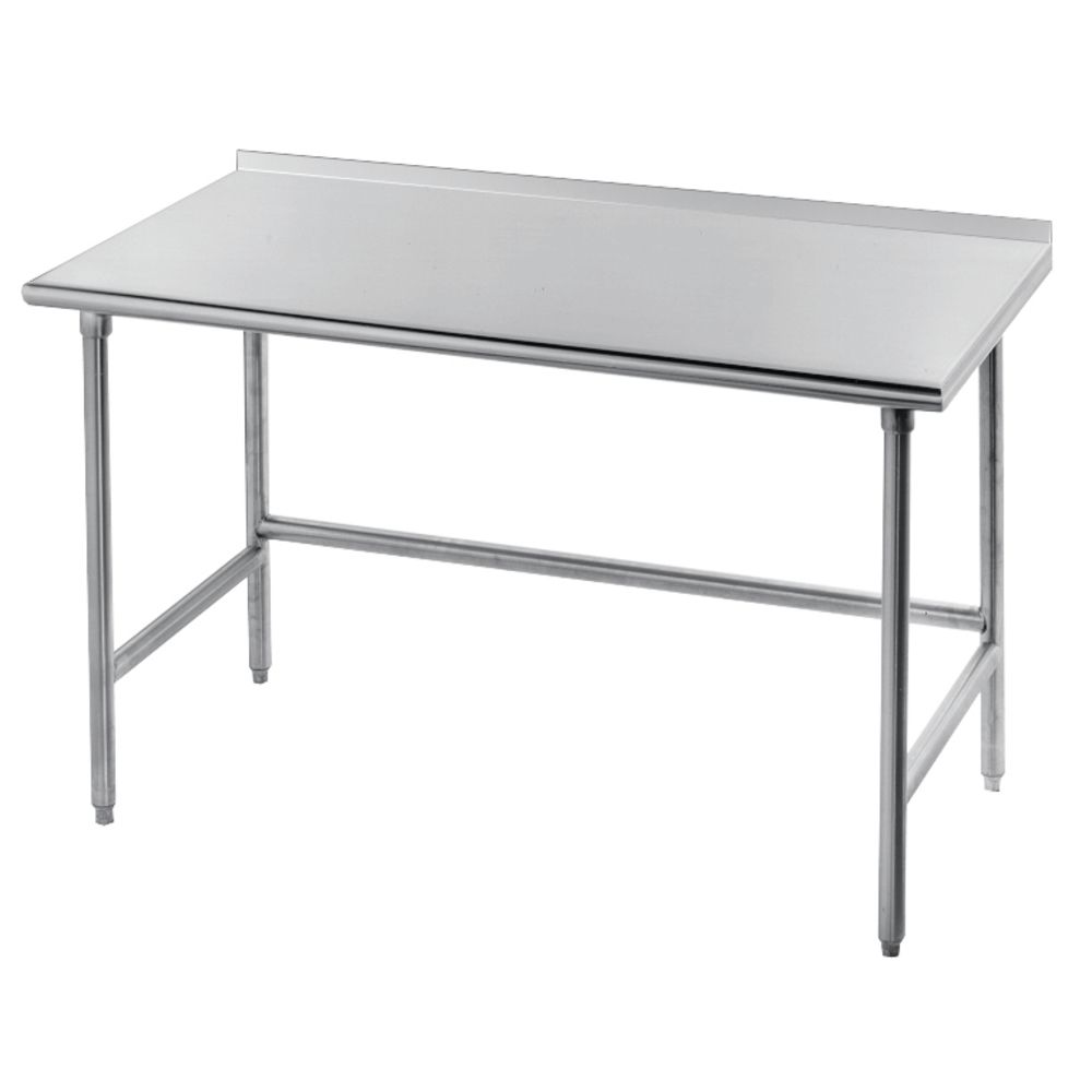 Advance Tabco Stainless Steel Work Table With Open Base And - Stainless steel open base work table