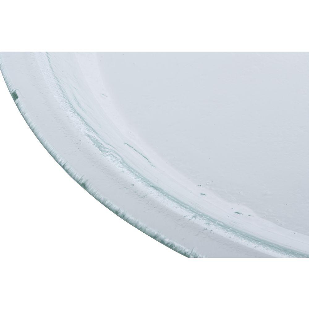 PLATTER, ARTIC, ROUND, GLASS, 20DIA X 1H