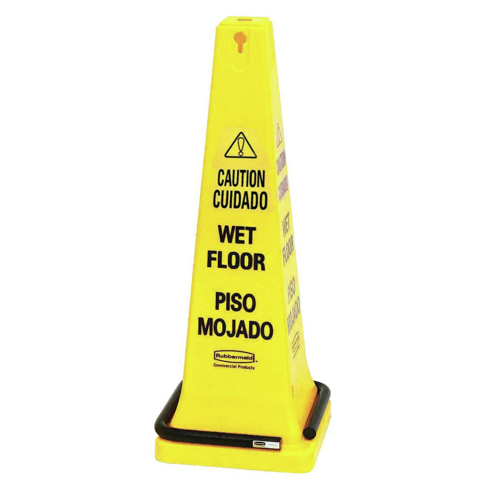 "Rubbermaid Caution Floor Sign Is 25""H"
