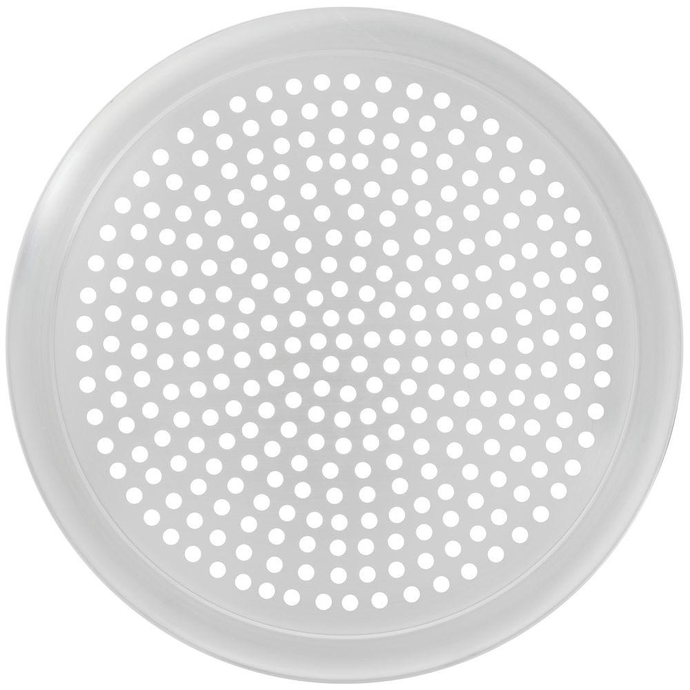 """Hubert Millennium Pizza Pan With Holes Open Rim Aluminum 16""""Dia"""