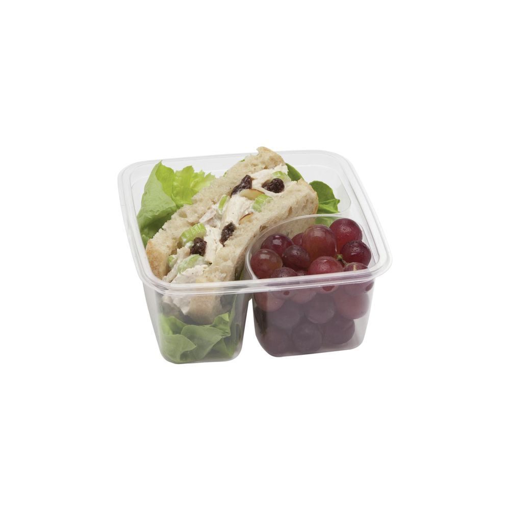 CONTAINER, GREENWARE, CLEAR, 2 CELL