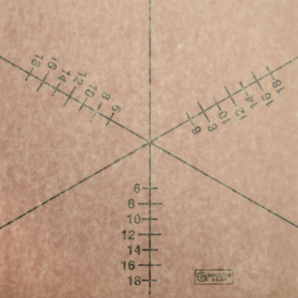 American metalcraft mpcut4 pizza slice cutting guide, 19. 3 length.