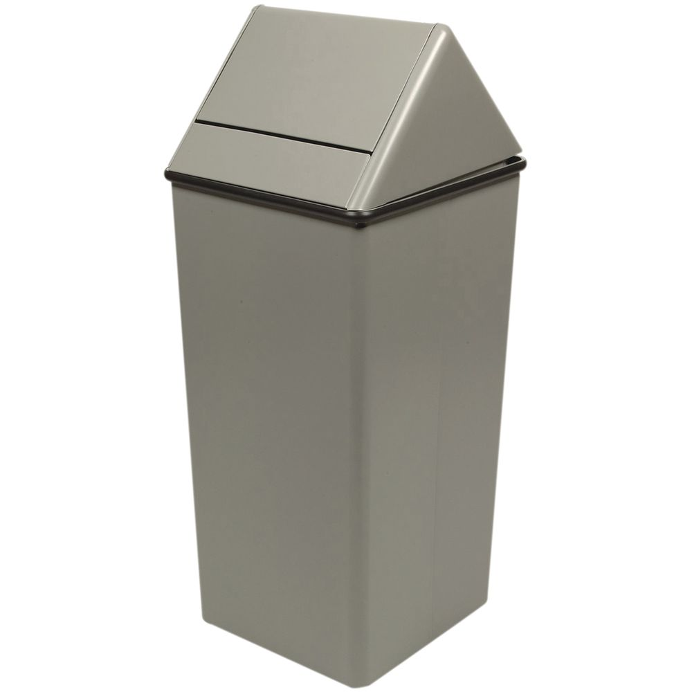 Witt 21 Gal Grey Steel Swing Top Trash Receptacle 14 Quot W X