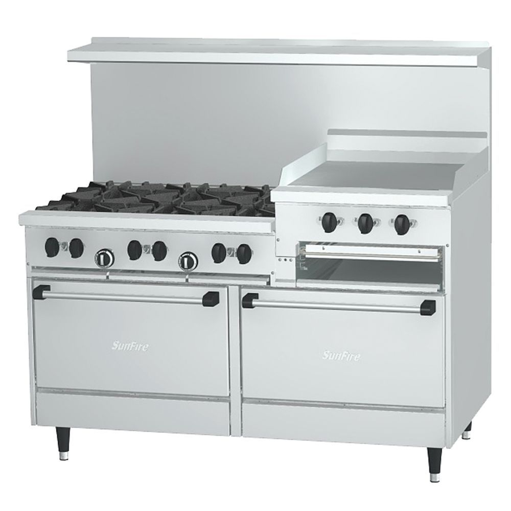 "Garland Sunfire X60-10RR X Series 60/"" Gas Restaurant Range With 10 Burners"