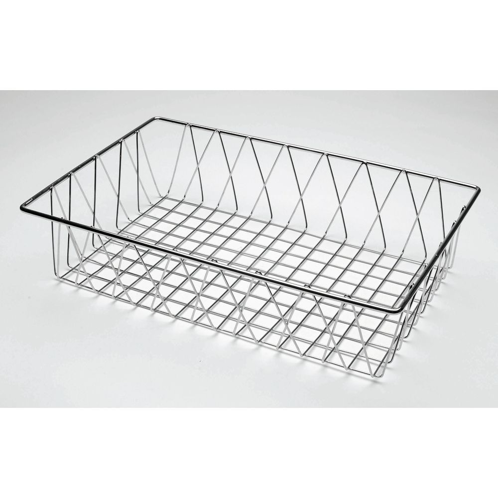 HUBERT® Rectangular Chrome Plated Steel Wire Basket - 18\