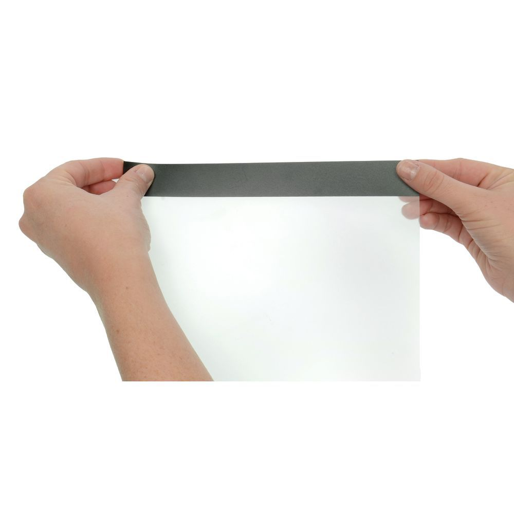 Clear Plastic Self-Adhesive With Magnetic Frame Sign Holder - 81/2L ...