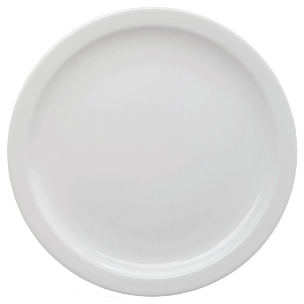 """Hubert Narrow-Rim Bread + Butter Plate 5 1/2"""" Dia Bright White Stoneware"""