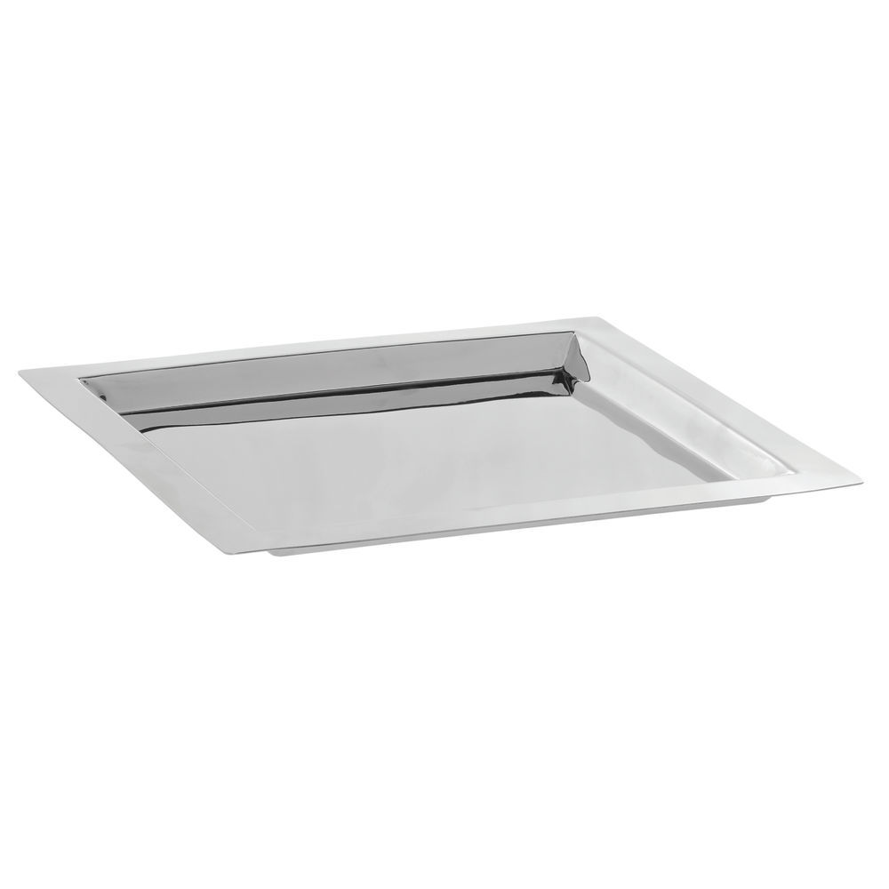 TRAY, MIRRORED, SQUARE, S/S, 15X15