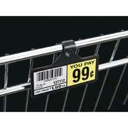 "SIGNHOLDER, LABELS, BLACK, 3""L, 100/BAG"