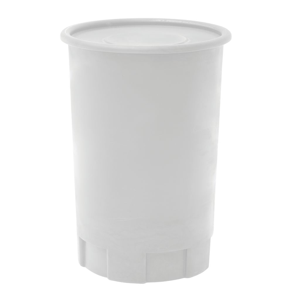 CONTAINER WHITE W/COVER, 30 GAL