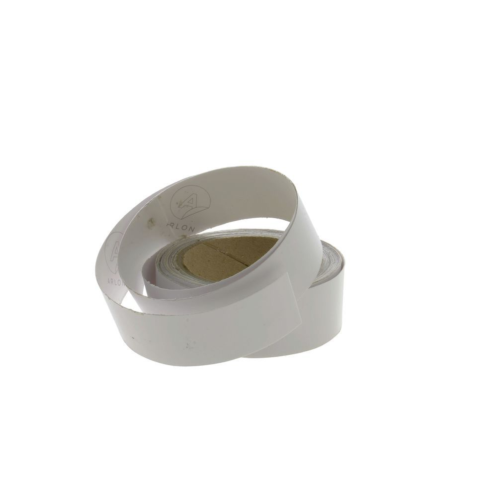 White Write-On Wipe-Off Identification Tape 1 1/2'H x 25'L